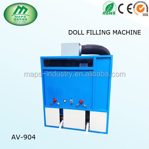 AV-904 portable teddy bear stuffing machine/fiber opening pillow filling machine/cotton pillow filling machines