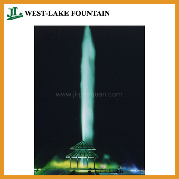 Large Musical Water Fountain Show in Lake