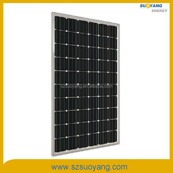 Hot sale monocrystalline solar cell module 265w 30v mono solar panel with ce rohs