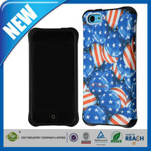 C&T Bulk protective fancy mobile phone covers hybrid combo tpu cases for iphone 5c