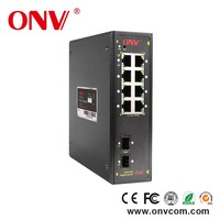 8ports Ethernet Giga network Switch Support PoE supply with steel case made in shenzhen industrial POE switch