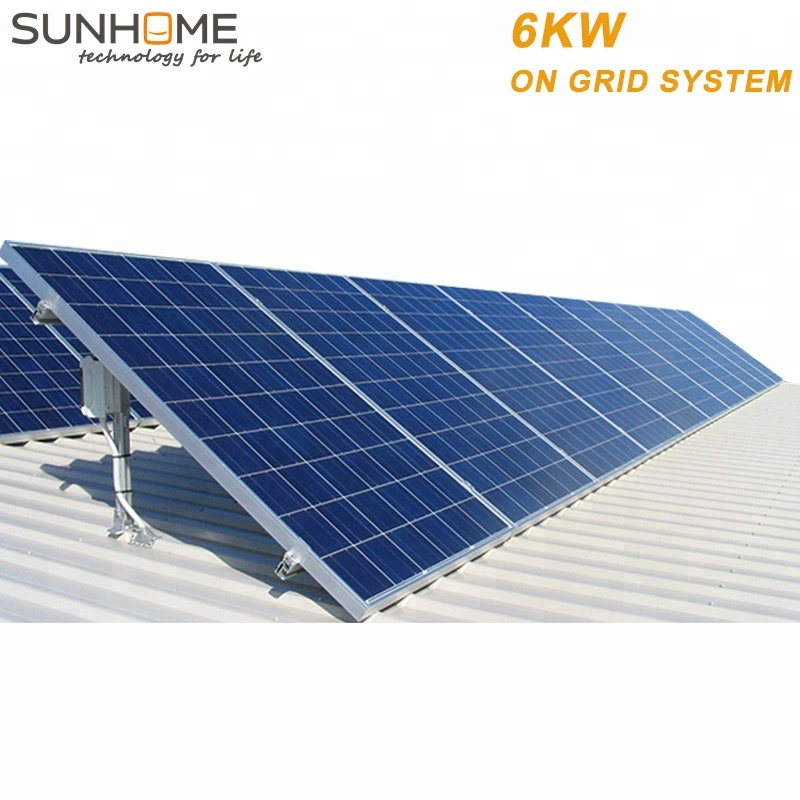 Sunhome 6KW 6000w solar home system on grid power top rating china <strong>energy</strong> for from SUNHOME