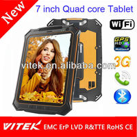 China manufacture 7'' 3G oem waterproof android tablet