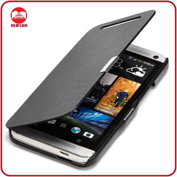 Manufacturer Wholesale Ultra Slim Book Style PU leather Magnet Flip Case for HTC One M7