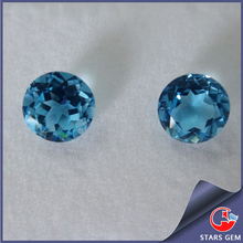 wholesale 12mm round topaz natural gemstone