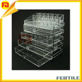ZL 424315G acrylic display storage box with dividers ,acrylic 4 drawer box
