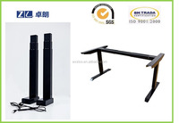 Black Adjustable Height Desk Sit to Stand Up Student Home Office Table