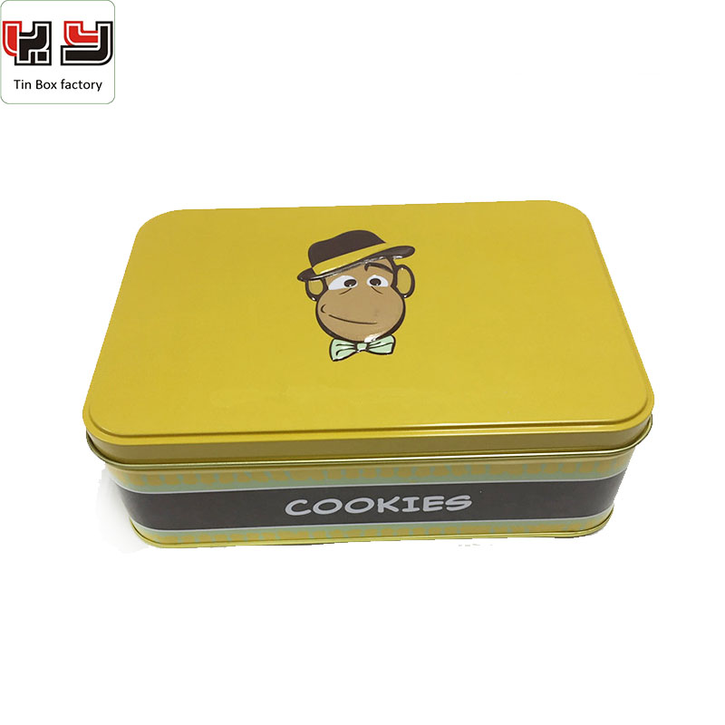 Wholesale OEM Empty Custom Metal Tinplate Cookie Biscuit Tin Box Cans Can Packaging Tins Container Case China Supply