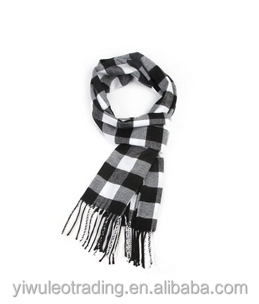 Men's Classic Cashmere Feel Winter Scarf in Rich Plaids