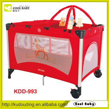 EN1888 Aluminum Frame China Foldable Baby Playpen Play Pen with Toys