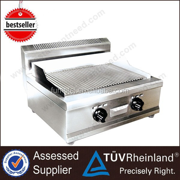 Commercial Hotel Kitchen Equipment Gas Grooved Flat Griddle And Grill Stove