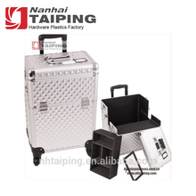 Bright Sliver Flight Case Aluminum Trolley Beauty case drawers Trolley