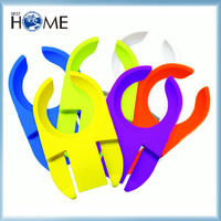 Plastic Stainless Steel Clipper Wine Plate Glass Holder Clip