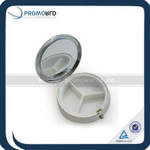 Metal Mini Pill Box With Mirror