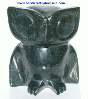 Owl Sculpture Carving Jade Figurine Handmade Large 12.5cm Unique Home goods decoration Handcrafted Stone Statue Art Collection
