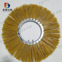 Polypropylene & steel wire flat or convoluted tractor mount sweeper brushes factory