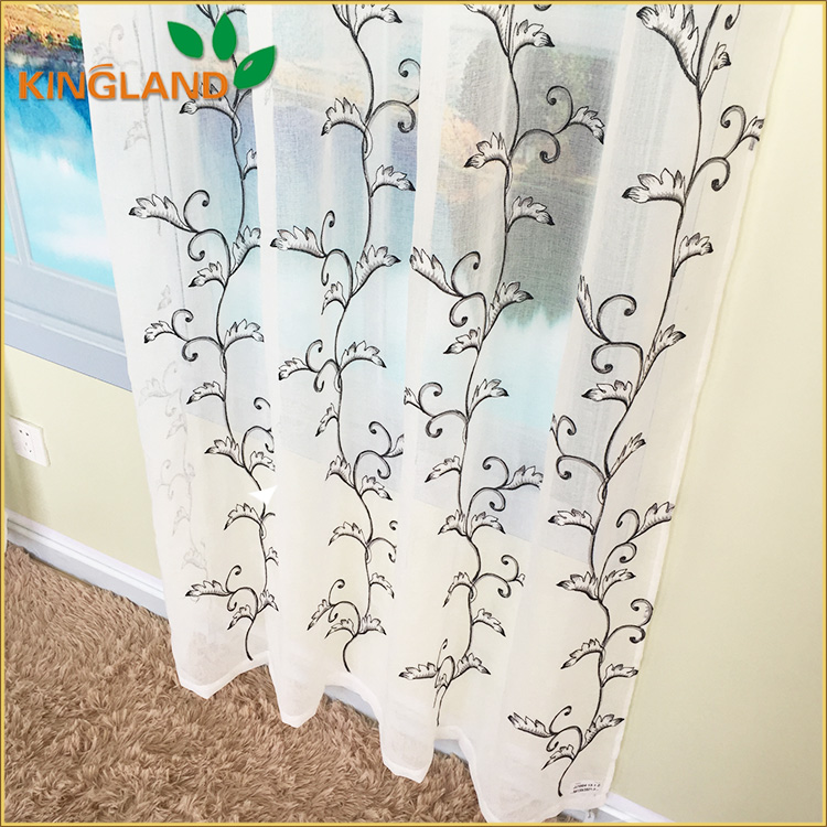 Exported low cost customized fancy curtains with embroidery fabric