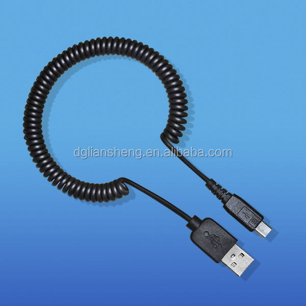 High transfer speed data cable, coloured retractable usb cable wire