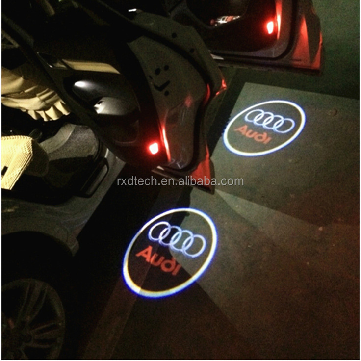 Wireless No Drill Type Led Laser Door Shadow Light Welcome Projector Light Ghost Shadow Emblems Car Door Logo for Ford