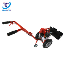 Gas Powered Broom Sweeper with Wheels