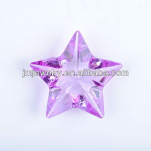 purple acrylic star pendant for jewelry making
