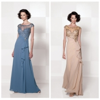 the most beautiful lace cap sleeve long evening dress patterns