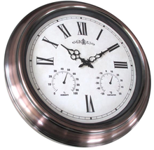18 inch Large Metal Garden Clock Waterproof Outdoor Wall Clock