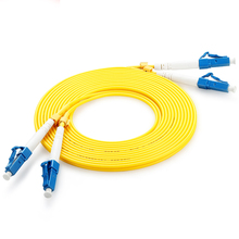 10 m (33ft) LC UPC naar LC UPC Duplex 3.0mm PVC Jas Single-Mode fc lc patchkabel