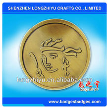 Metal coin with chinese dragon,commemorative coins for new year