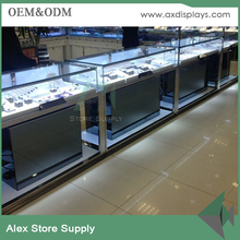luxury glass jewelry display cabinet for jewellry store design