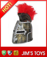 Promotional Roman Helmet with Red Plume Gladiator Full Face Helmet
