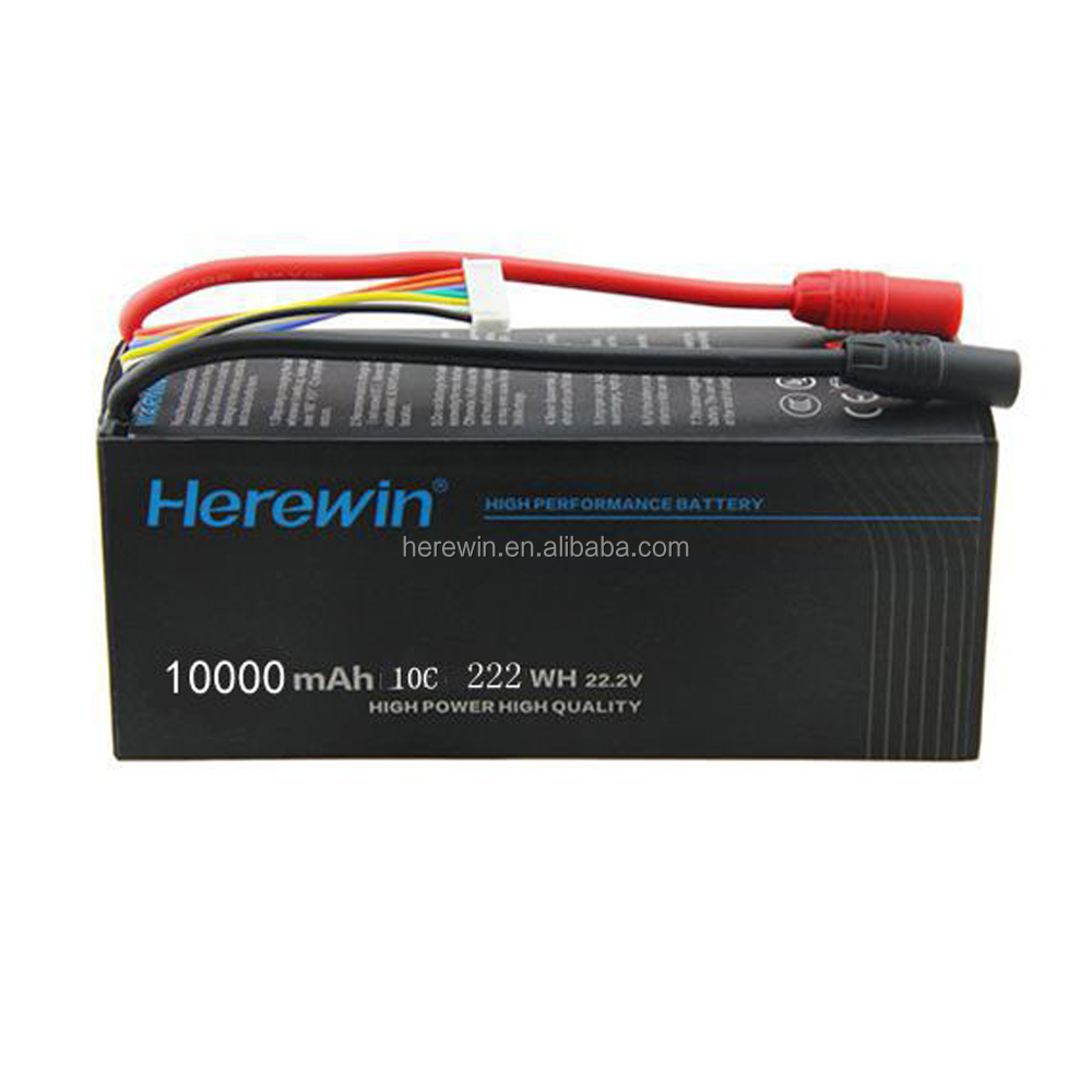 battery supplier 10C 6S 10000mAh 22.2V replacement lithium ion battery packs for UAV/Drone