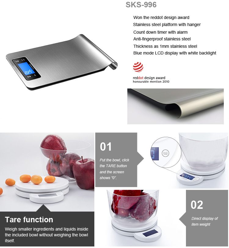 Most accurate professional kitchen weighing scale , nutrition scale
