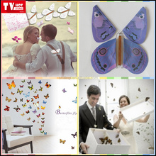 Popular Kids Christmas Gift Magic Flying Butterfly, Color Butterfly flies from cards,letters,books,gifts and flowers