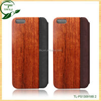 hot selling pu leather case for ipad air/notebook flip style leather+solid wood cases,wholesale price