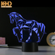KH-NL039 KING HEIGHT Wholesale Kids Children Small Energy Saving Animal Shape 3D LED Decoration Horse Night Light for Kids