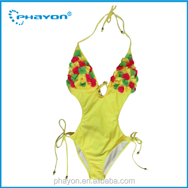 HOT! wholesale custom print one piece swimsuit, young girl very popular