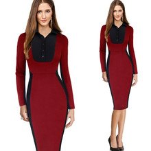 2016 New designs Pictures semi formal dresses ladies official dresses formal office dresses for women