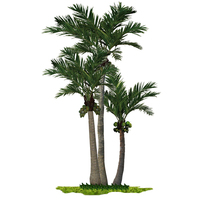 Cheap price sale large indoor and outdoor decoration palm trees plastic artificial coconut tree