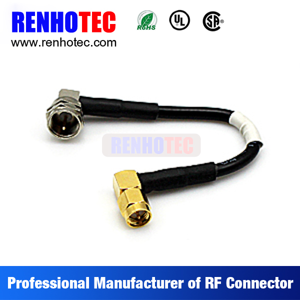 RF connector cable assembly, cable connection, 7/16 din male to sma male adapter rg58 rg59 rg6 cable