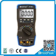 Voltage/Current/Resistance/Capacitance/Temperature/Frequency/Duty Cycle Meter Digital Multitester with Diode hFE Test Function