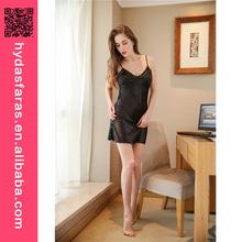 Hot New Casual Women Satin Sleepwear Nighty Dress ladies sexy nightwear