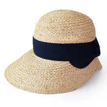 Summer farmer sun visor raffia straw lady hat