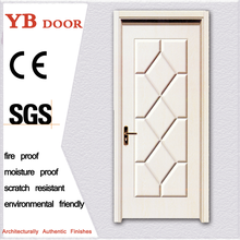 diret buy china latest design wooden swing pvc double door without glass entry YBPD 6382