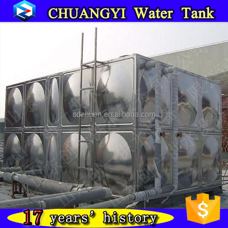 SS201/304/316 water tank for drinking water/irrigation water/fire fighting water
