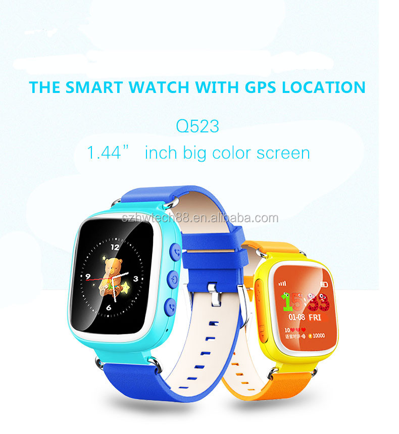 High quality 1.44 Color screen gps tracker kids smart watch with sim card
