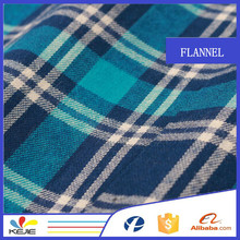 Plain large check flannel fabric for school uniform