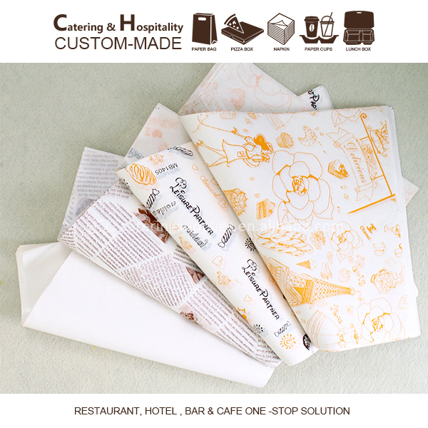Grease Proof Paper, Custom Printed Food Wrapping Paper