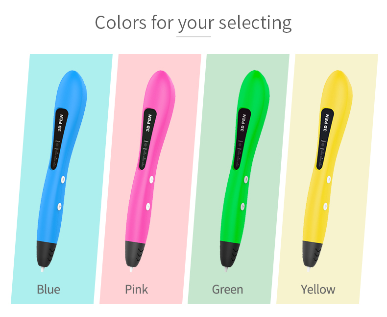 Art pen 3d printing drawing pen and filament set for kids art drawing