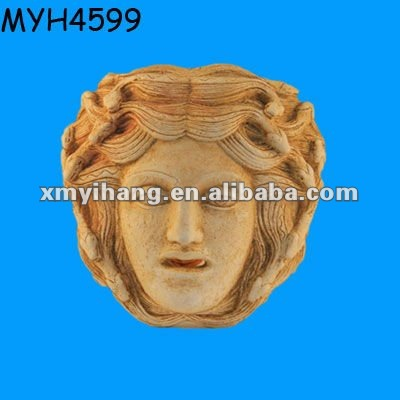 Ceramic painted Medusa figure face mask